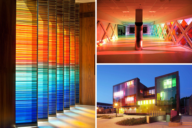 10 Examples Of Colored Glass Found In Modern Architecture And Interior Design