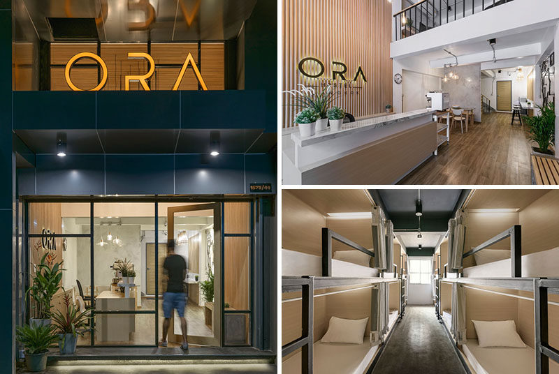 Sea Architecture have recently completed ORA, a small hostel in Bangkok, Thailand, that was once a shop and residential house.