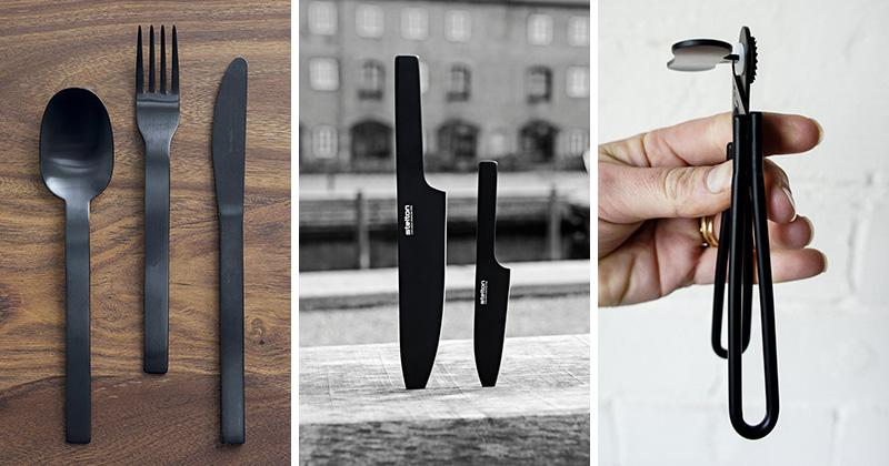 These modern matte black accessories for the kitchen are a perfect way to spruce up your home decor.