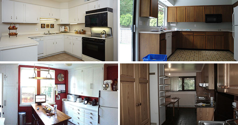 These before and afters of 13 modern kitchen renovations and redesigns show what a difference makes with a few changes.