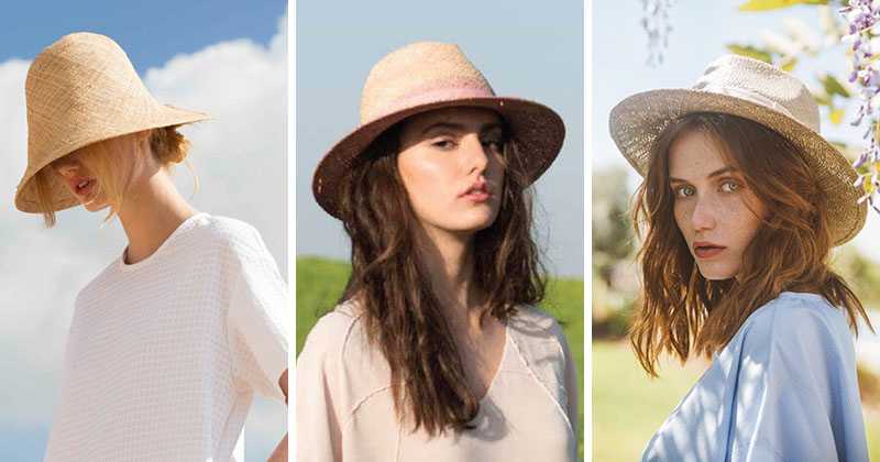 Yael Cohen, a fashion designer based in Israel, has created a line of modern straw hats that are perfect for summer.