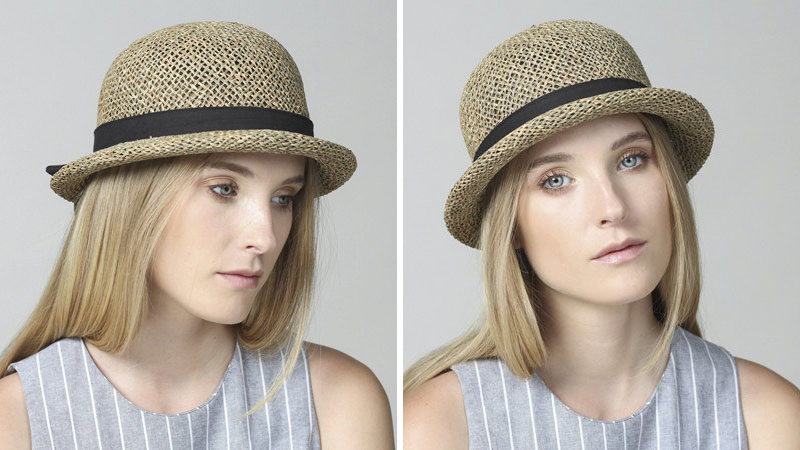 Yael Cohen, a fashion designer based in Israel, has created this natural short brim hat as part of a collection of modern straw hats that are perfect for summer.