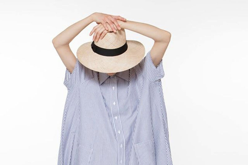 Yael Cohen, a fashion designer based in Israel, has created this wide brim Fedora as part of a collection of modern straw hats that are perfect for summer.