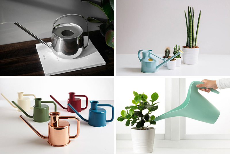 These modern watering cans are perfect for watering the plants in your garden or in the house.  #Gardening #WateringCans #ModernWateringCan #Plants
