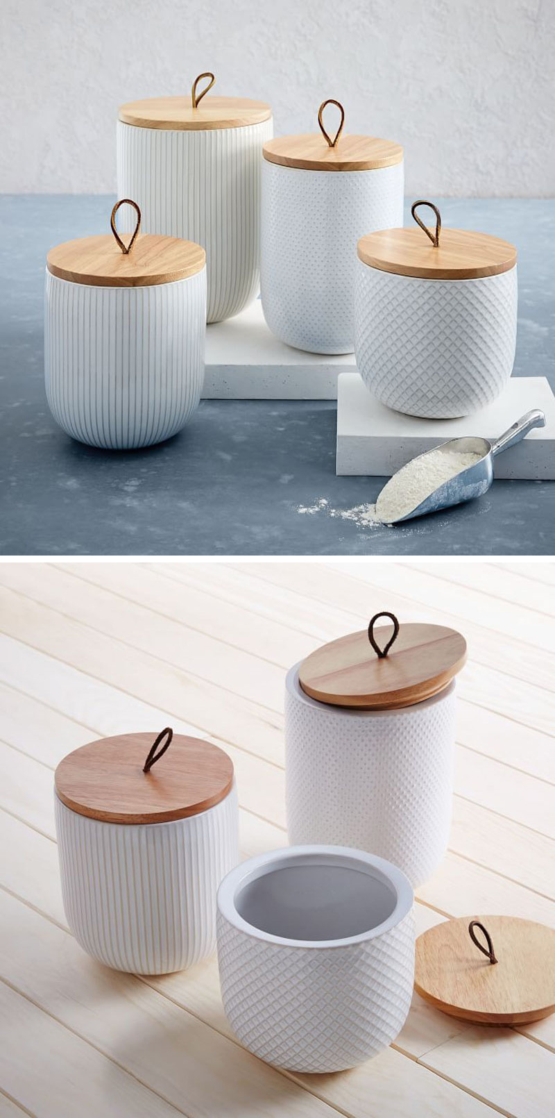 contemporary kitchen canisters keep your food and decor fresh with these 13 modern jars and canisters contemporist 9744