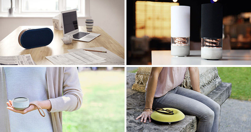 Here's a list of 9 modern wireless speakers that will add both music and style to your life at home and on the go.