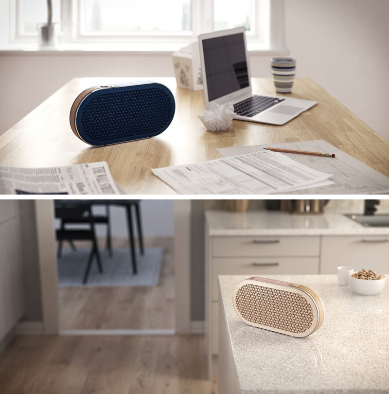 This wireless speaker has a simple design, is available in three finishes, has two different listening profiles that allow you get the most out of your listening experience.