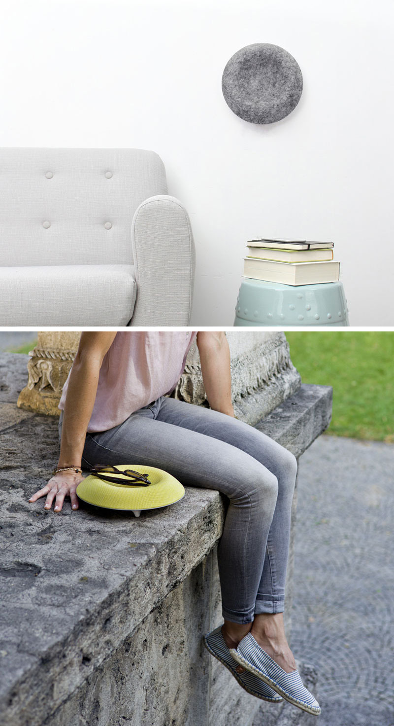 Mount this speaker on your wall, place it on a table, or bring it outside with you to enjoy your music where ever you go. The concave design of the speaker also allows you to store your phone, keys, or other small objects in it helping you keep your life organized.