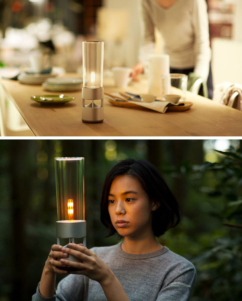 With a hidden yet powerful speaker system and an LED light designed to mimic the look of a lantern or candle, this wireless speaker was designed to look unlike other speakers.