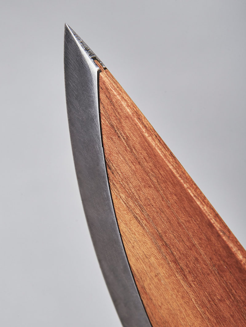 This Sleek Wood Chef Knife Is Combined With Alloyed Carbon