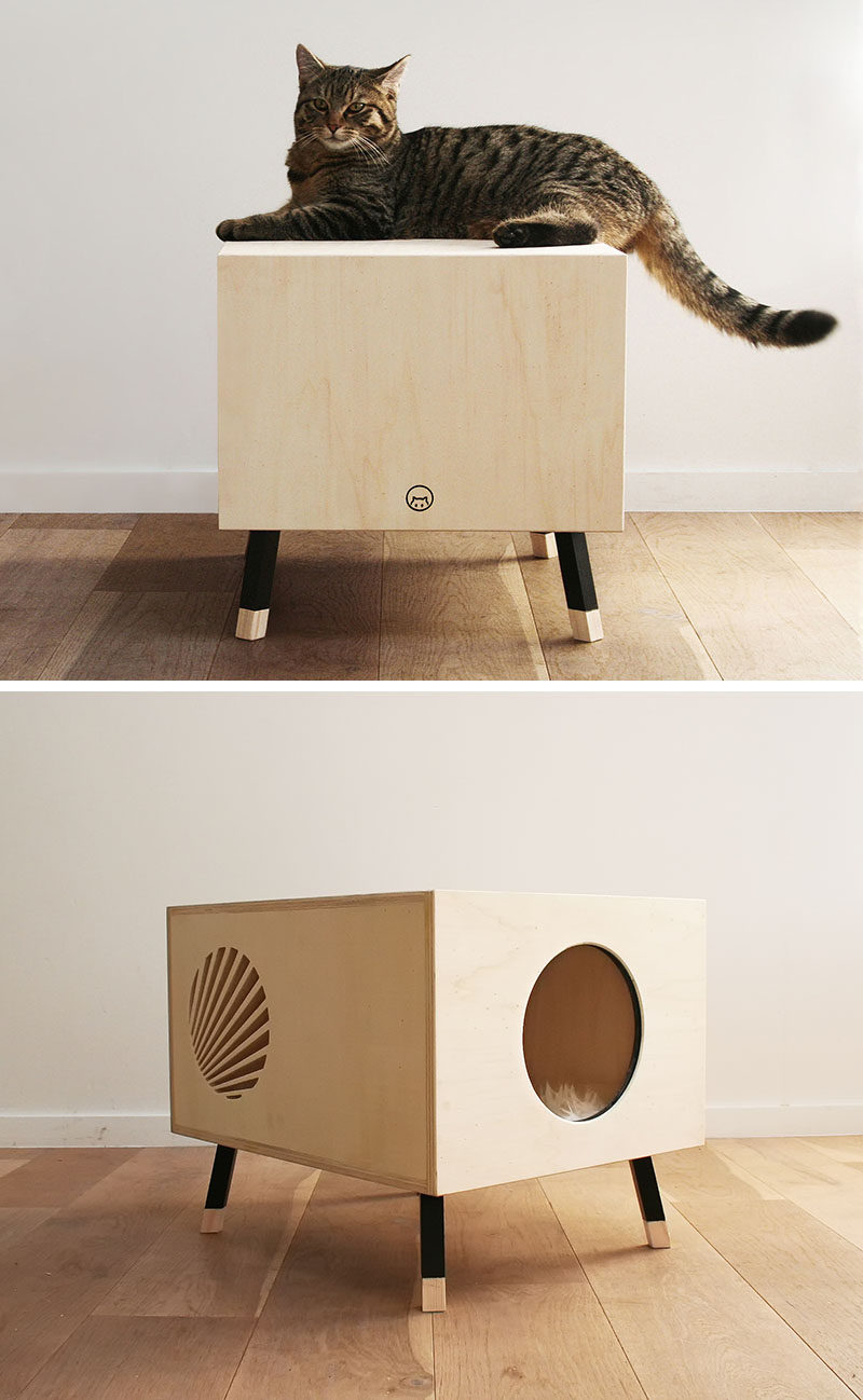 Contemporist This Minimalist Modern Cat Bed Doubles As A