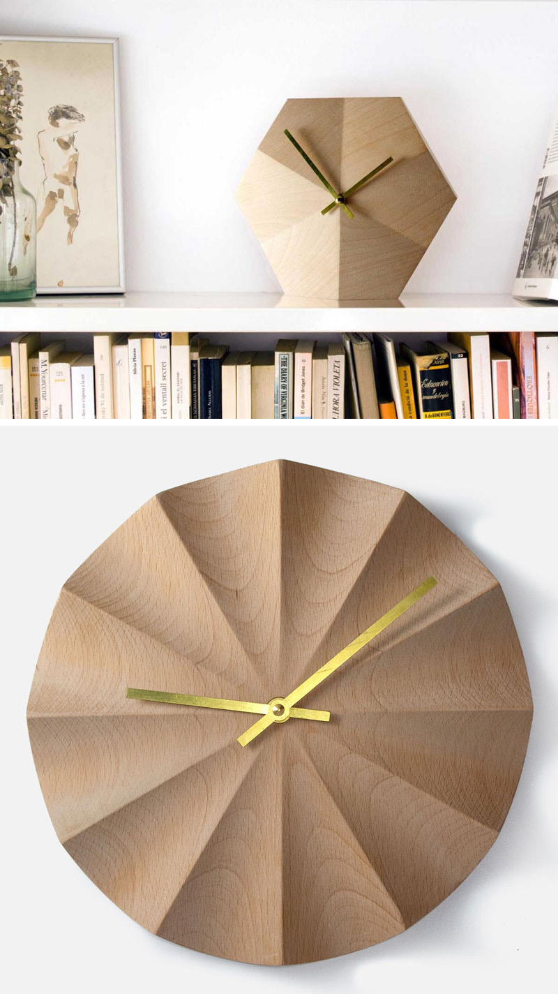 These wood wall clocks were designed to be both functional time telling pieces as well as simple art pieces that add a modern touch to your interior. #ModernWoodClock #WallClock #ModernDecor #ModernClock