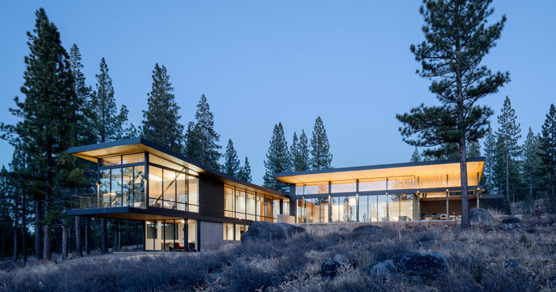John maniscalco completes a new home surrounded by nature for Tahoe architects
