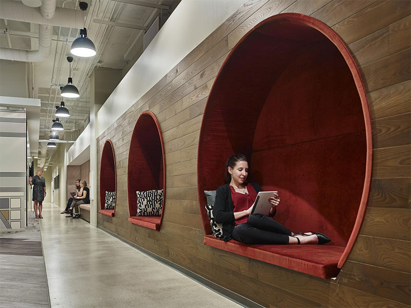 This Office Design Has Built-In Nooks For Relaxing