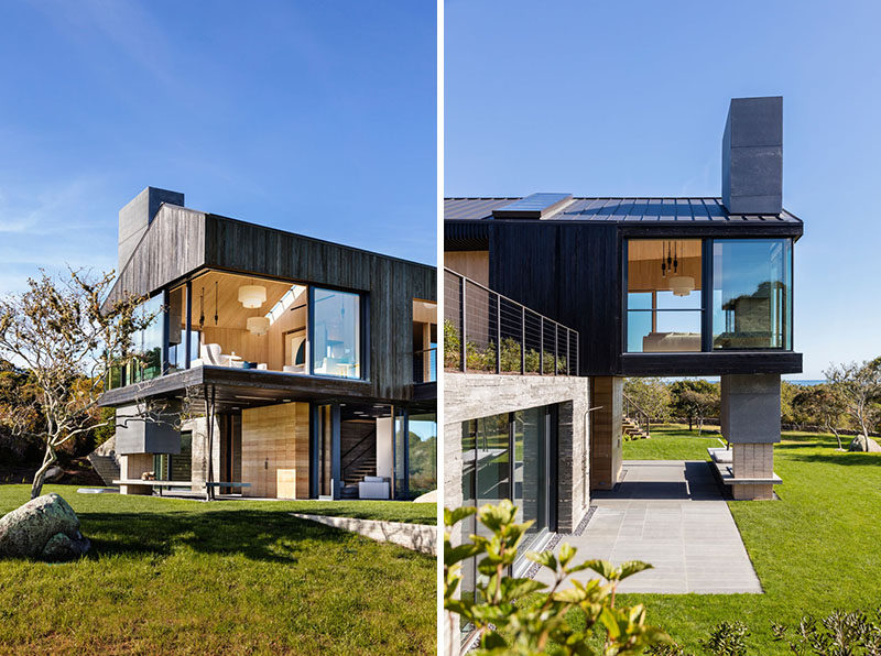 Blackened Wood Siding Covers This New House In Massachusetts