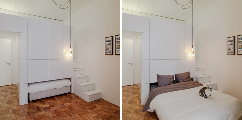 This Small Apartment Has A Pull-Out Bed That Doubles As A Sofa