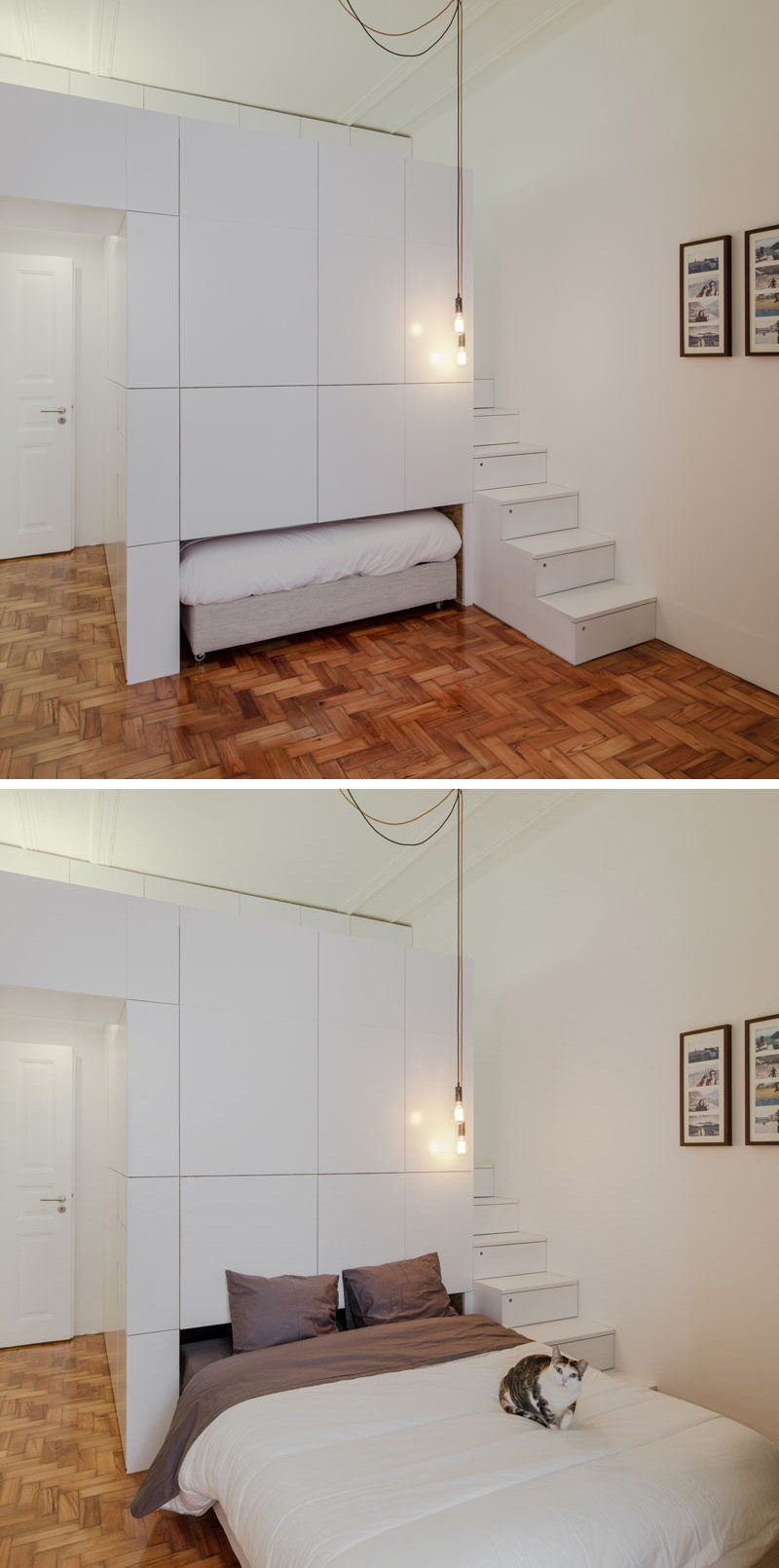 This Small Apartment Has A Pull Out Bed That Doubles As A