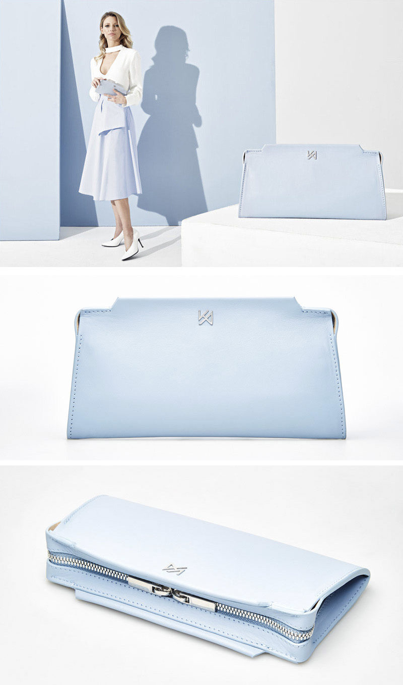 The classic shape of the rectangular Silhouette Purse by AGNESKOVACS, will stand out as a piece that will look great with any outfit.