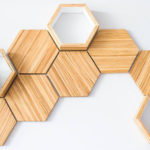 Recycled Chopsticks Are Turned Into These Honeycomb Shelves And Wall Tiles