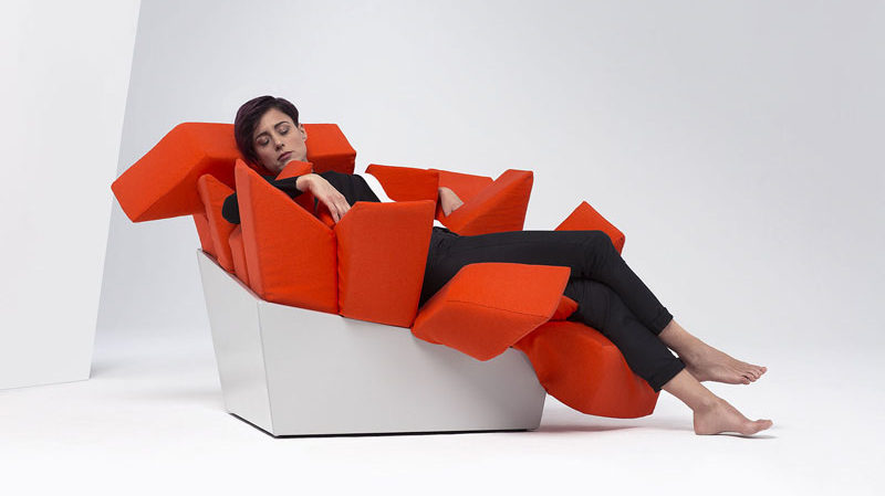 Italian creative firm BestBefore2065, have designed MANET, a fun and sculptural chair, that allows people to sit however they like and still be comfortable.