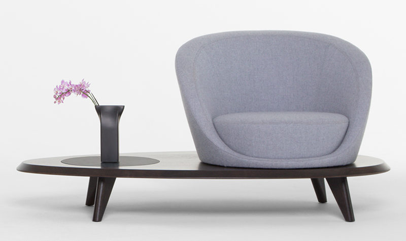 Terry Crews has designed a contemporary furniture collection with Bernhardt Design, and as part of his first collection he has designed the Lilypad Lounge Chair.