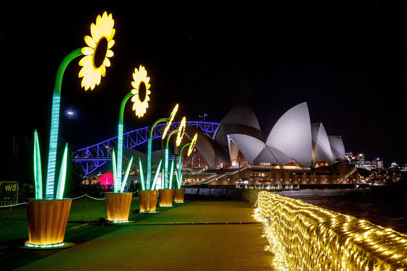 Vivid Sydney 2017, the annual light art festival is lighting up the city in bright sculptures, fun installations and colorful projections.