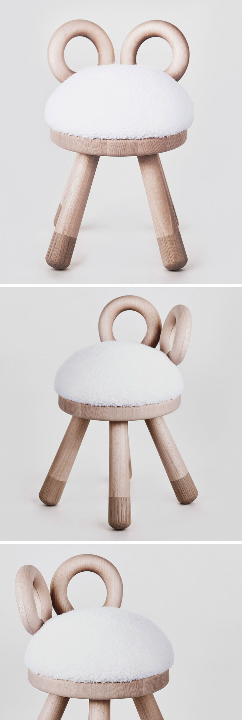 Japanese designer Takeshi Sawada, has designed this sheep stool as part of a collection of quirky farm animal inspired stools for EO - Elements Optimal.