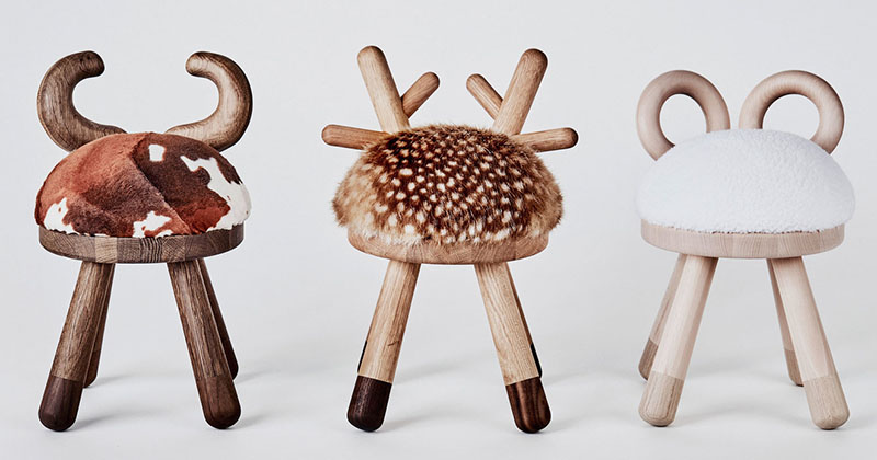 These Quirky Kid's Stools Were Inspired By Farmyard Animals | CONTEMPORIST
