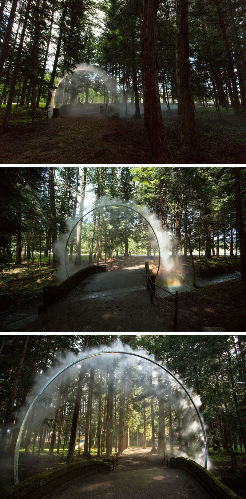 "Australian artist James Tapscott was commissioned by the Japan Alps Art Festival to great a site-specific art piece, which he named ""ARC ZERO - NIMBUS""."