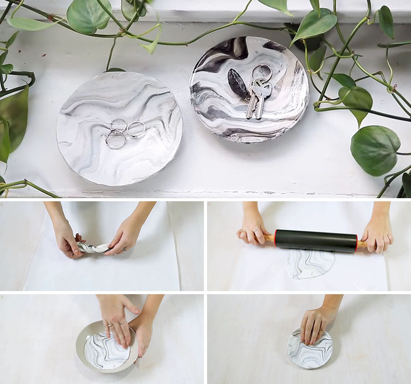 Create Your Own Diy Faux Marble Catch All Bowl With This