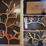 Make Your Very Own DIY Tree Bookshelf Using Plywood