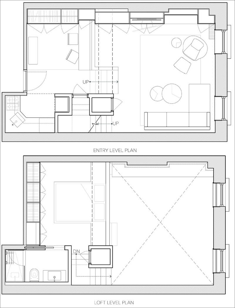 100 loft apartment floor plan apartments winning for Barn plans with loft apartment