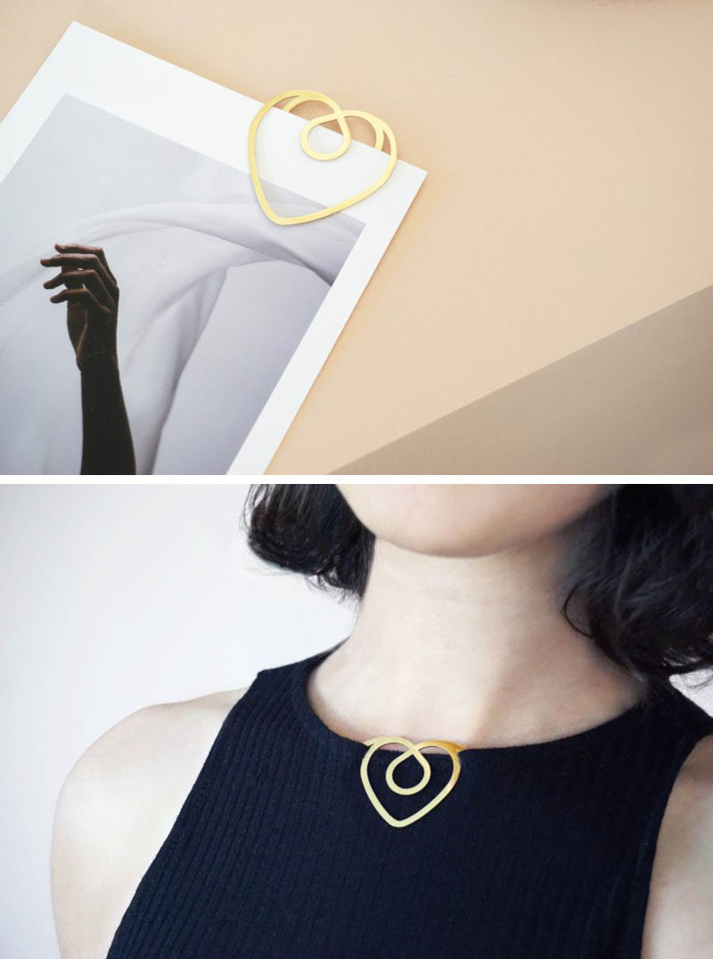 Designer Efil Türk of Llun, has created a collection of minimalist paper clips that were inspired by traditional Turkish motifs.
