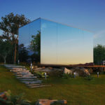 The Modular ÖÖD Prefab House Features Mirrored Glass And Can Be Assembled In 8 Hours