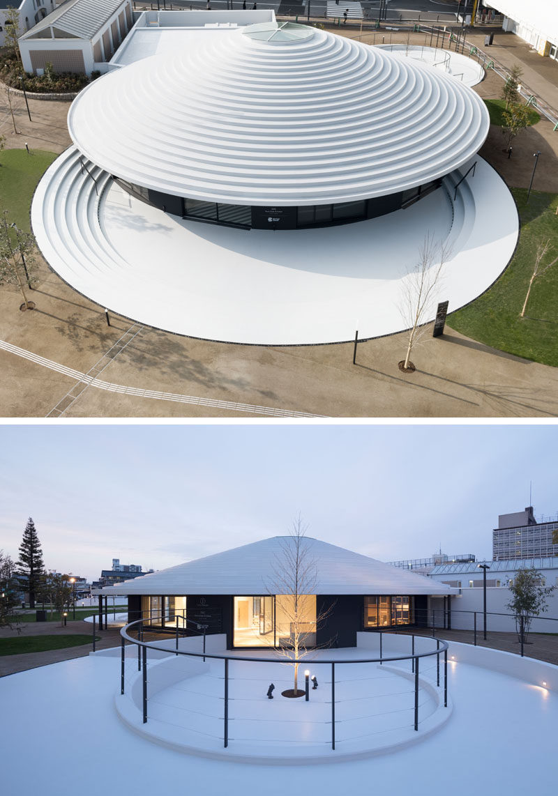 Japanese architecture firm nendo have recently completed the Cofufun plaza for Tenri Station in Nara prefecture, that features plenty of space for the local community to use for events and gatherings, and would also serve as a tourist information centre.