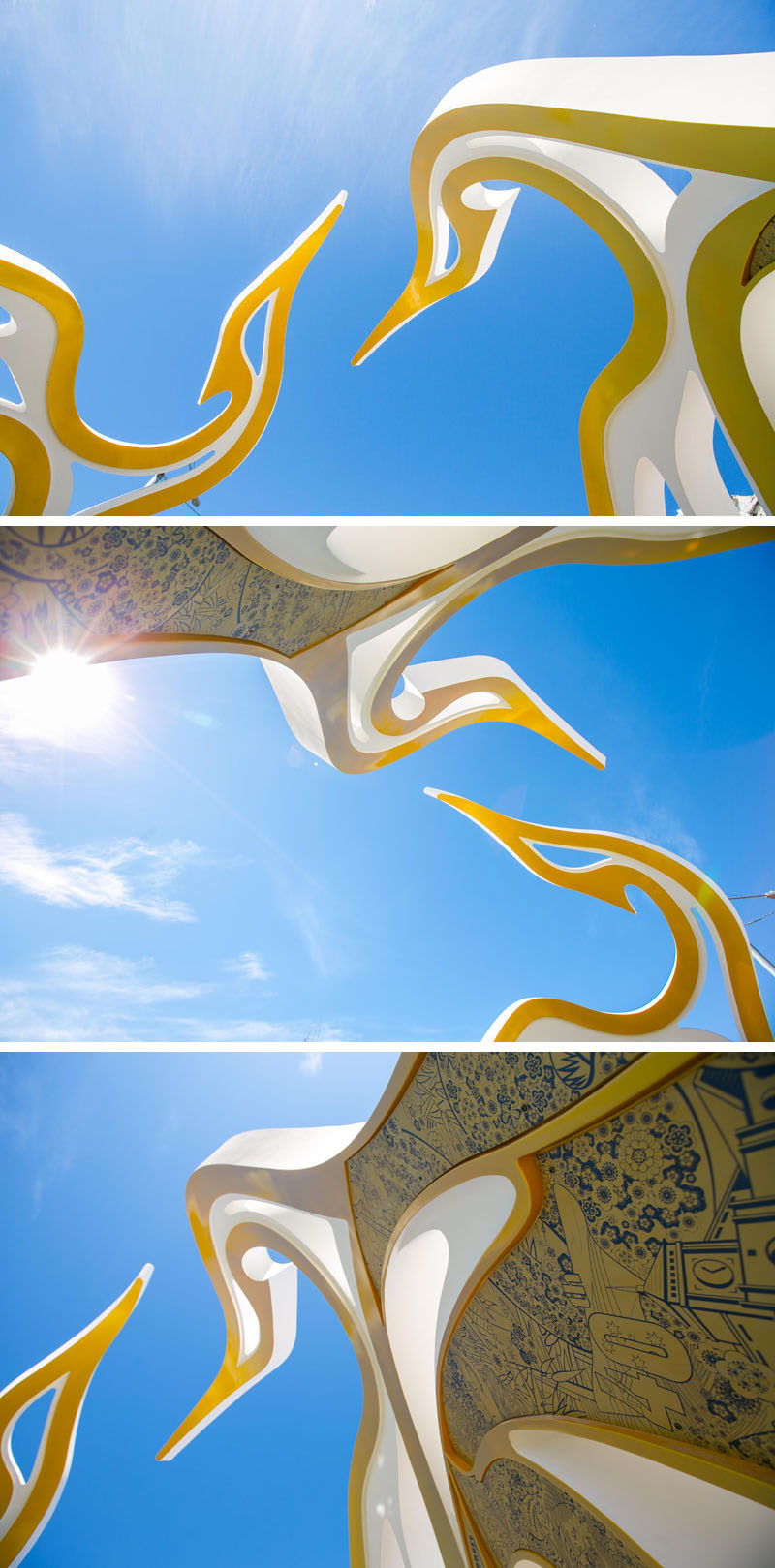 Architecture firm McBride Charles Ryan, have designed the Saigon Welcome Arch, a modern sculpture that represents the Vietnamese settlement in Footscray, a suburb of Melbourne, Australia.