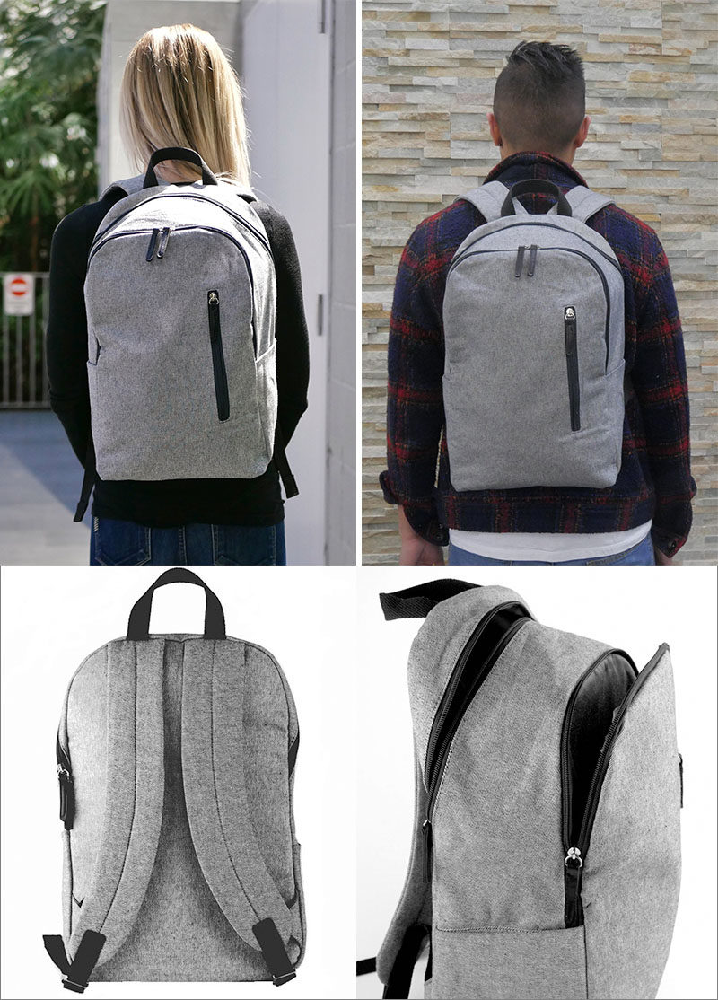 The Modern Day Trip backpack by Modern Sphere features an interior padded laptop compartment, two separate interior zones, two side slip pockets for on-the-go items, and a front zip pocket. #ModernBackpack