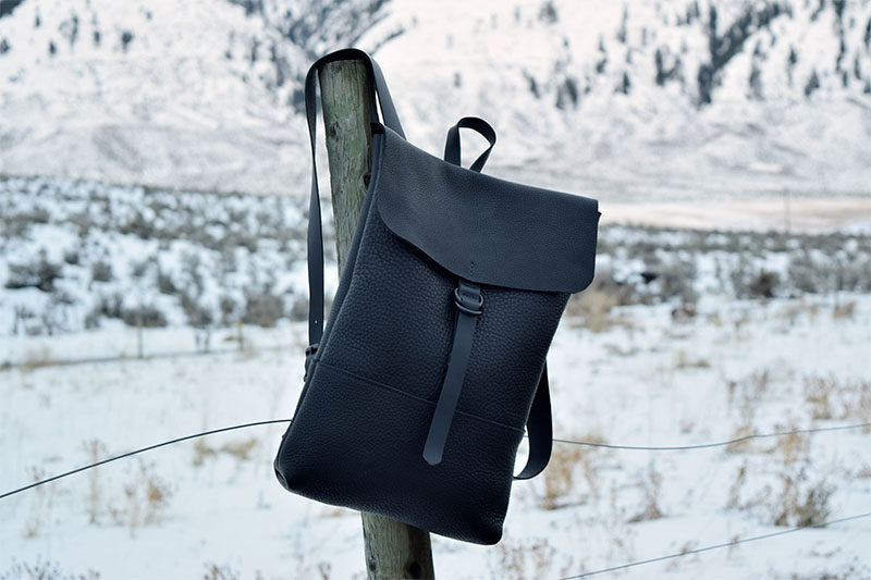 The Columbia Backpack is made from a supple yet durable leather, and has one exterior pocket, one interior pocket, adjustable straps, and a double D closure on front. #Backpack #ModernBackpack