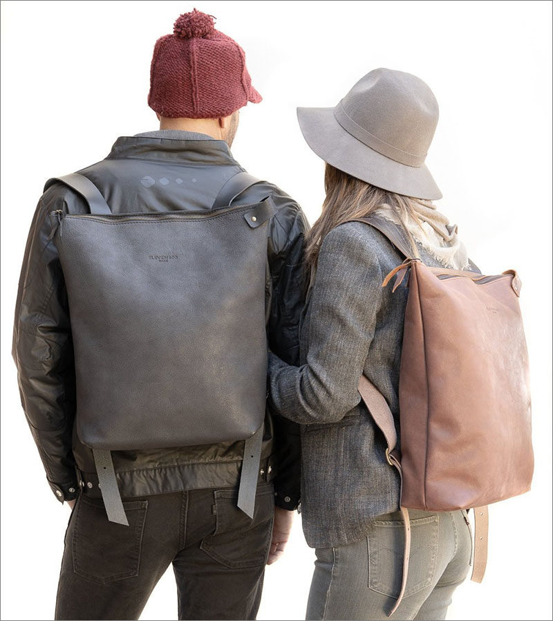 This full grain simple leather backpackcomes with a YKK zipper, an internal pocket, and an interior leather separator for laptop. #ModernBackpack #Backpack