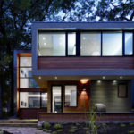 A Modern Family House Was Added To This Residential Toronto Street