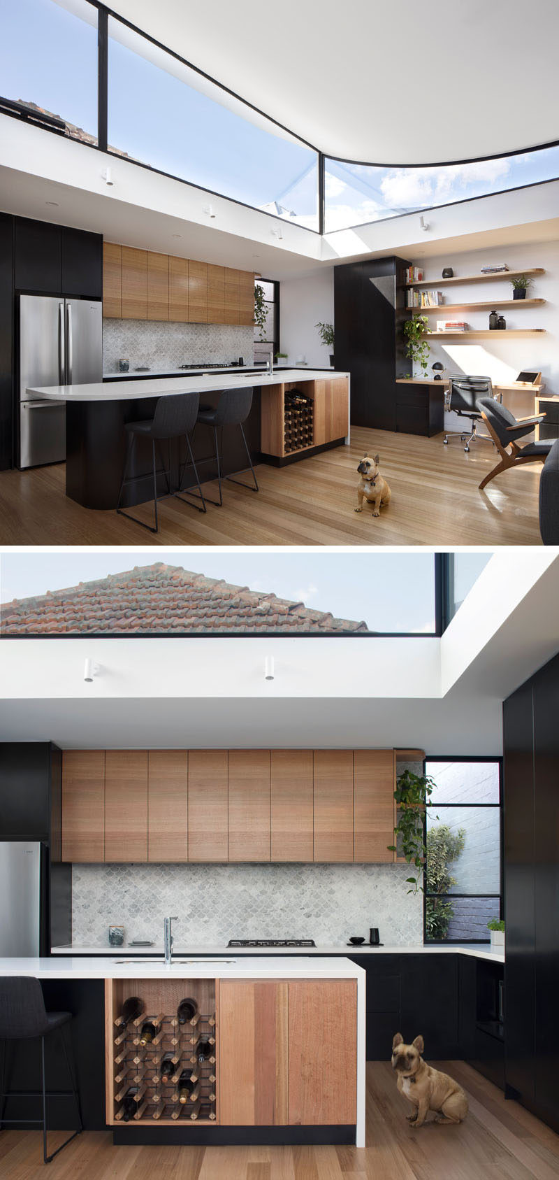 kitchen floor wood contemporist the roof of this new extension 1687