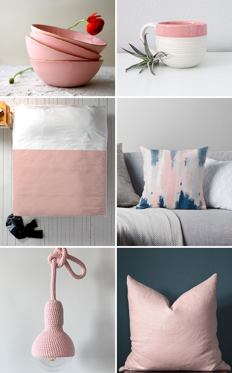 Freshen up your home decor with blush pink accents for Modern home accents accessories