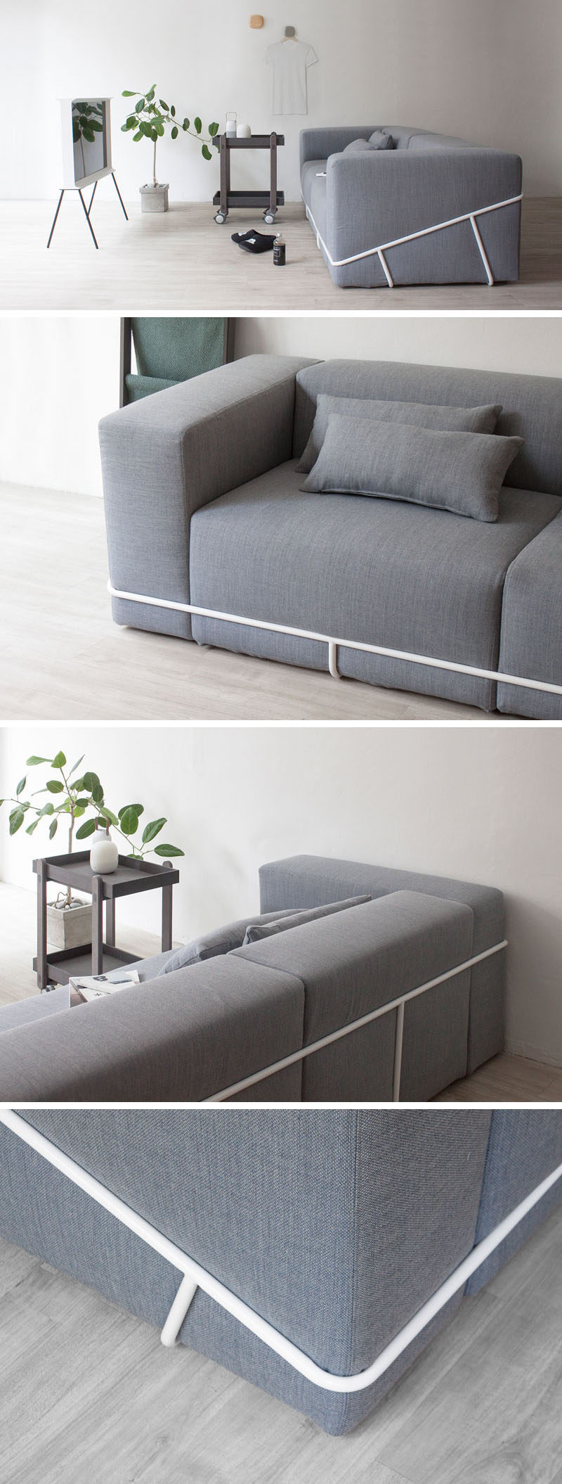 Seoul Based Designer Cho Hyung Suk, Has Designed A Modern Grey Couch That  Sits Within