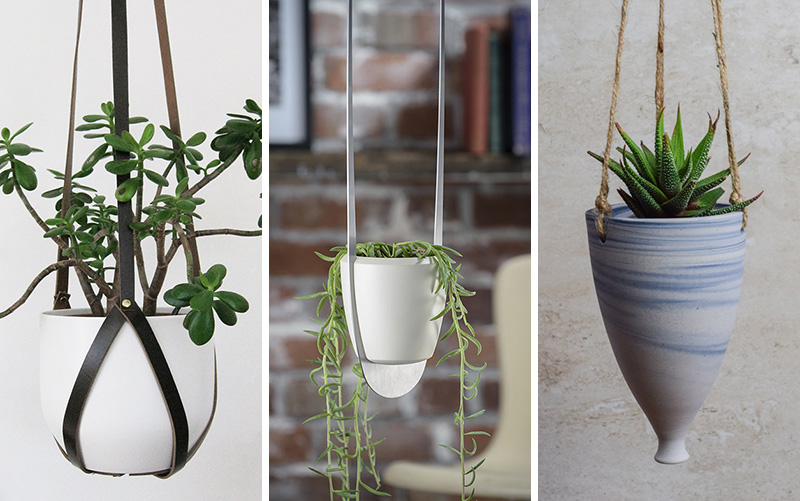 These modern hanging planters are unique in design and the perfect inspiration for summer.  #HangingPlanter #ModernPlanter #HomeDecor #Garden #Plants
