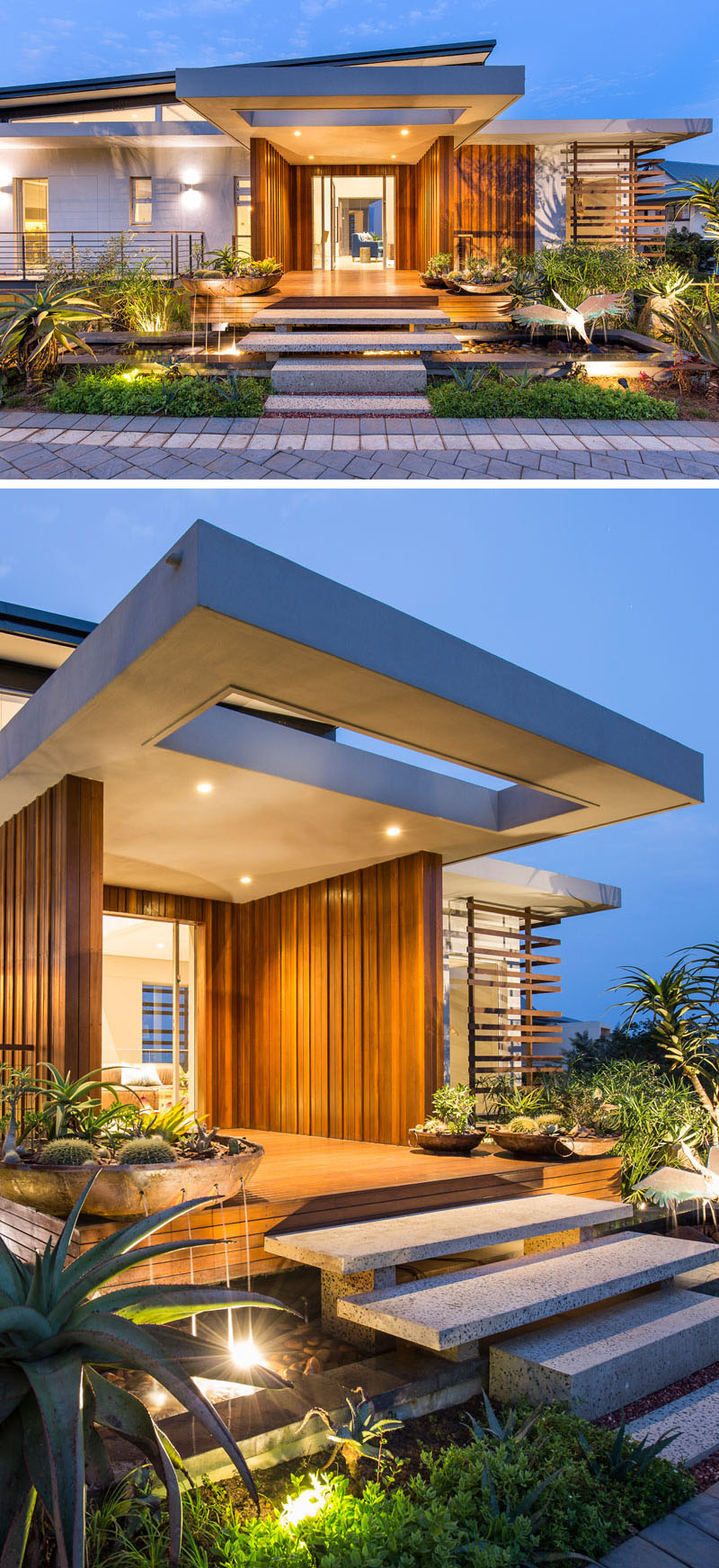 Contemporary House Entrance Design: This House In South Africa Was Designed Around An Indoor Swimming Pool