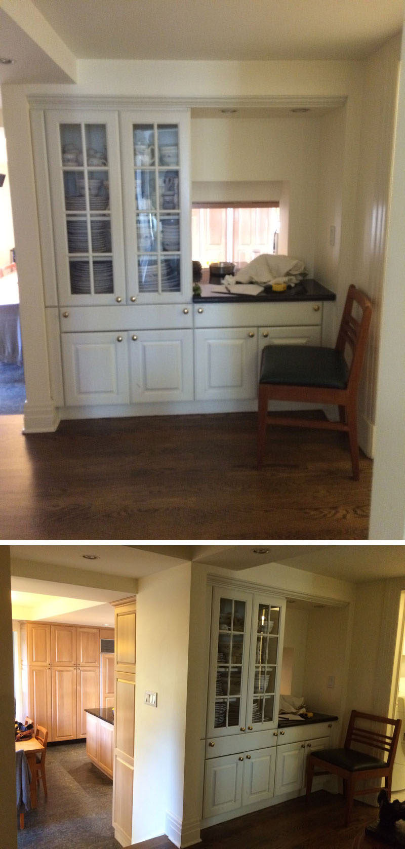 The Before Photos - This dated entryway received a modern renovation.