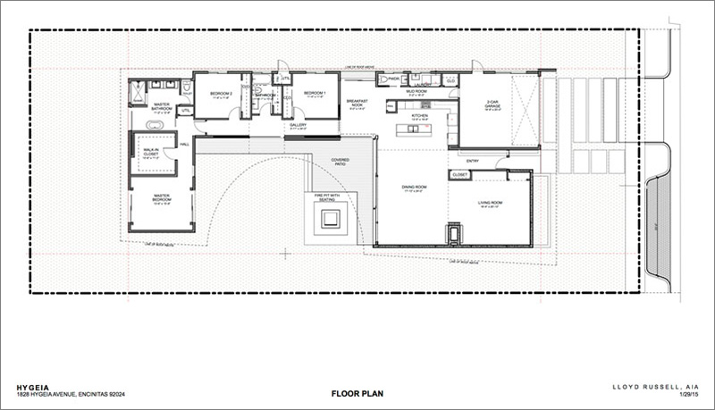 Here is a look at the floor plan of this modern house.