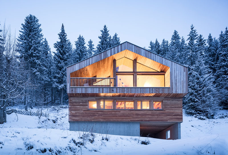 Studio Razavi Architecture have designed this recently completed house in the mountains of Manigod in France.