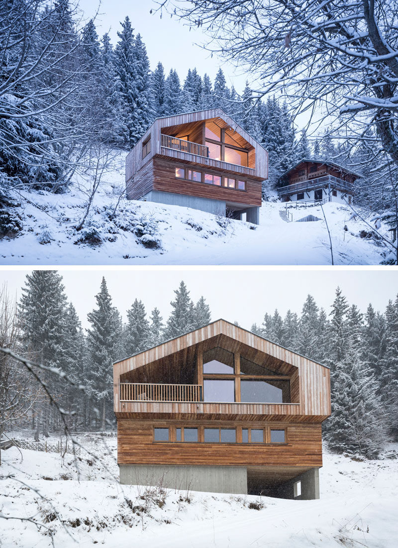 Studio Razavi Architecture have designed this recently completed modern house in the mountains of Manigod in France.