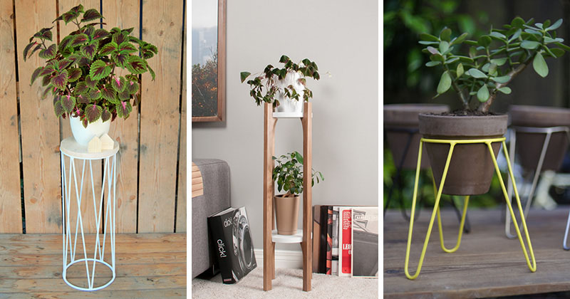 One way to fill the corner of a room or outdoor patio is to include on of these 13 modern plant stands to put your plants on display.
